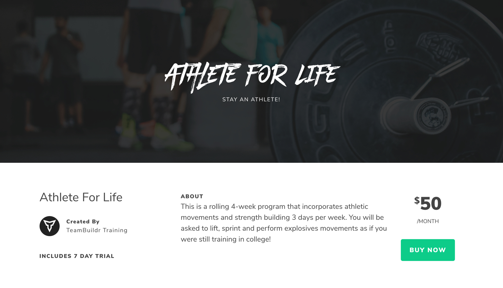 athlete for life preview page